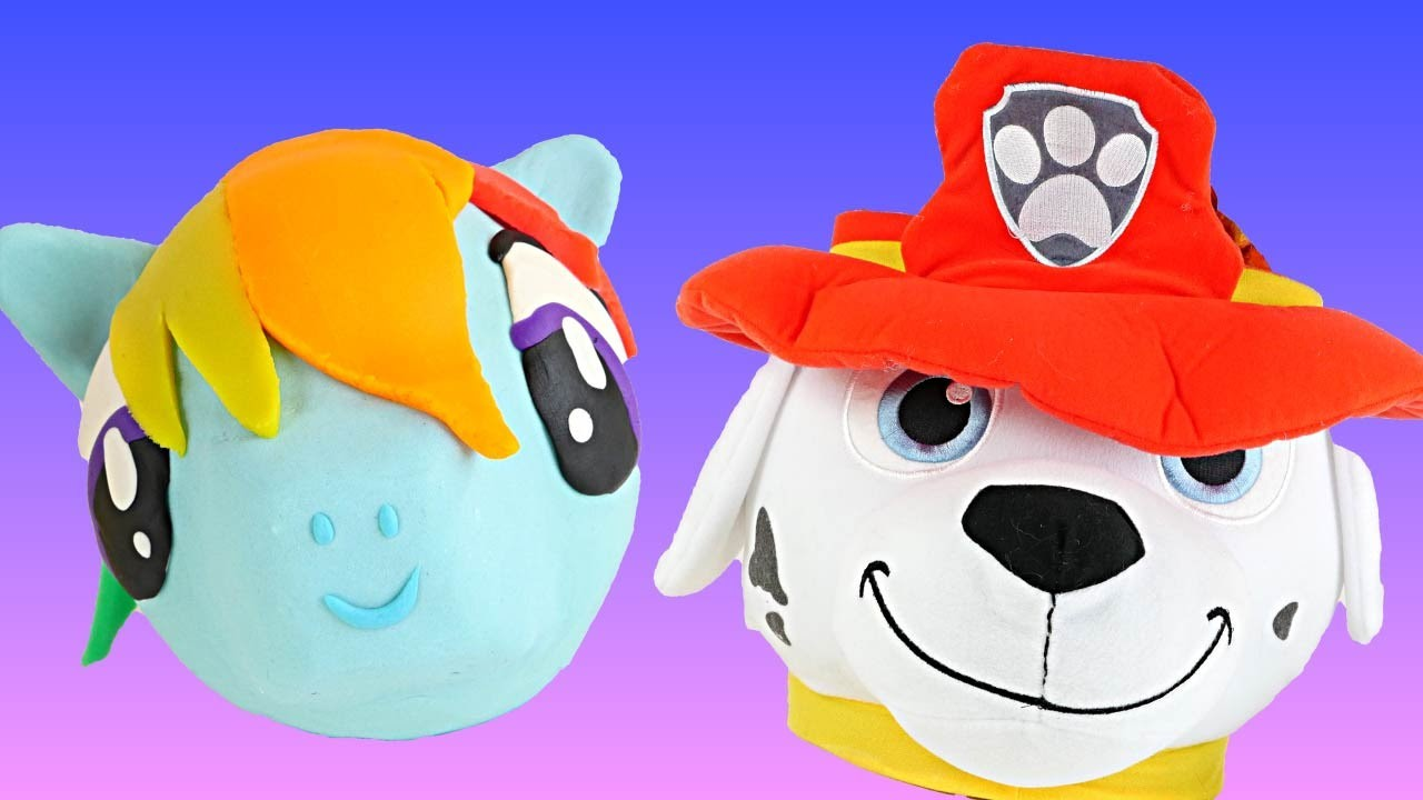 Rainbow Dash and Paw Patrol Toy Baskets Play Doh Surprise Egg My Little Pony Shopkins Kinder Fashems