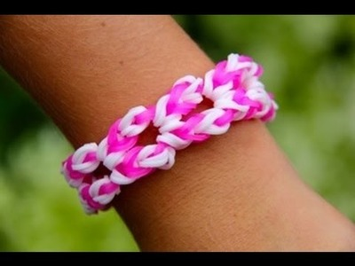 Rainbow Loom - Waikiki Bracelet (Original Design) English Tutorial - Loom bands