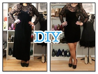 Refashionable DIY Black Dress