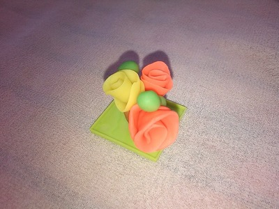 Rose Flower - Modelling Clay Crafts for Kids