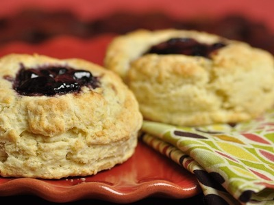 Scones Topped With Preserves Recipe Demonstration - Joyofbaking.com