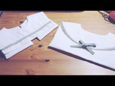 Sewing + DIY Detachable Sailor Collar (2 ways)