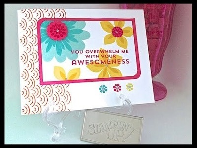 Simply Simple FLASH CARD - Overwhelming Awesomeness Card by Connie Stewart