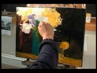Singapore Artist Ng Woon Lam Floral Oil Painting