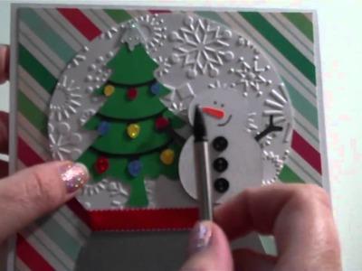 Snowglobe Scene Christmas card