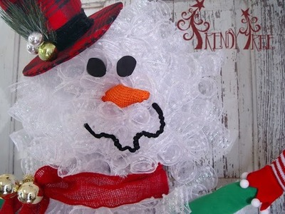 Snowman Wreath Tutorial by Trendy Tree