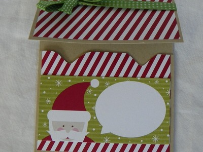 Stampin' Up Punch Board Gift Holder Card