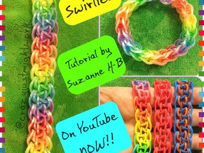 Swirlies bracelet tutorial (hook only) rainbow loom bands