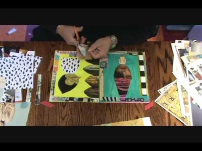 Teesha Moore Journaling Second Layer Collage Part 3 of 4