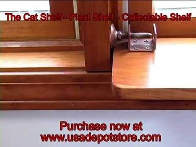 The Cat Shelf - Plant Shelf - Collectible Window Shelf by Walt Barrett