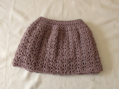 VERY EASY pretty crochet skirt tutorial - all sizes (baby to adult)