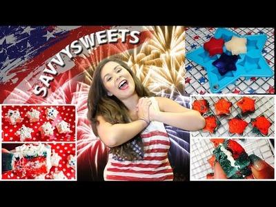DIY 4th of July Treats!!! (Sweet & Semi Healthy) | SavvySweets
