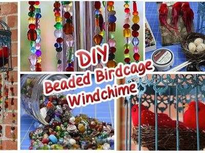 DIY Beaded Birdcage Wind Chime