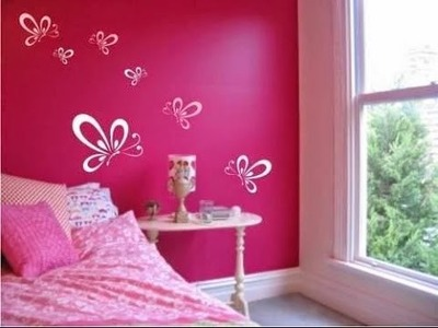 DIY Bedroom Painting Ideas~Pink Bedroom Wall Painting