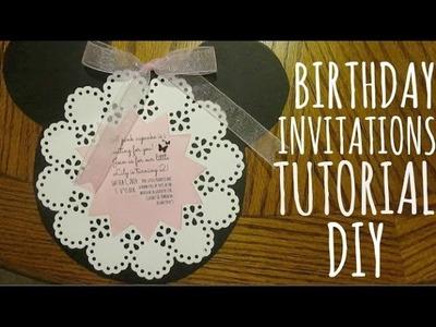 DIY BIRTHDAY INVITATIONS!