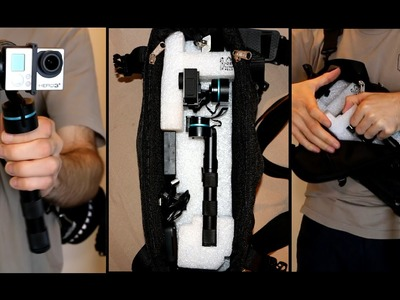 DIY Camera Bag for Feiyu Tech G3 GoPro Stabilizer Gimble + Test Footage