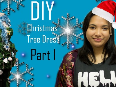DIY Christmas Tree Dress Part 1- Pattern Making and Cutting the Fabric