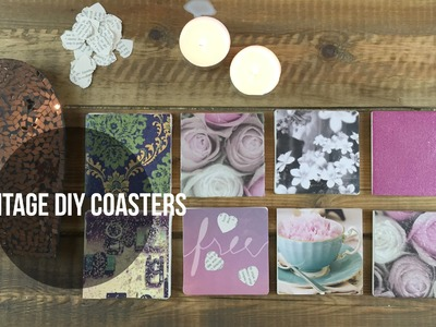 DIY Coasters | Cheap Vintage Holiday Gift