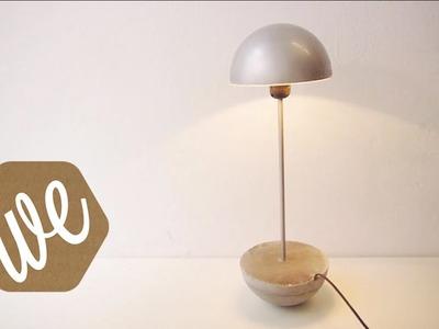DIY concrete pendulum lamp