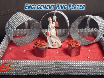 DIY Engagement. Wedding Ring Platter  | How to make | JK Wedding Craft 015