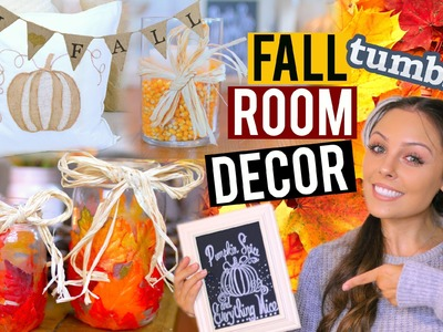 DIY Fall Room Decor 2015! Tumblr + Pinterest Inspired! | Kristi-Anne Beil