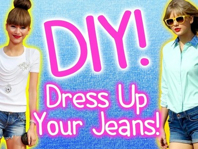 DIY Fashion ~ 4 Ways to Dress Up Jeans! Ombre, Studs & Lace!