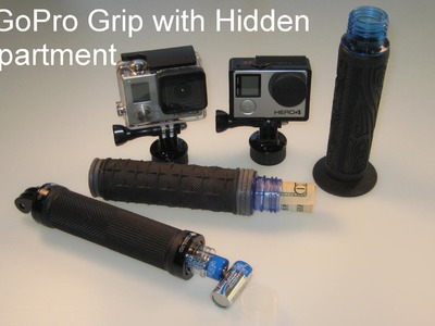 DIY GoPro Handle Grip with Storage Compartment Inside: Step-By-Step How-to Build