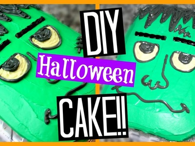 DIY HALLOWEEN CAKE | Frankenstein!! (Super Easy)