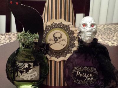 DIY Halloween potion bottles