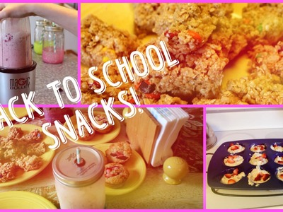 DIY: Healthy Back to School Snacks! | babymad74