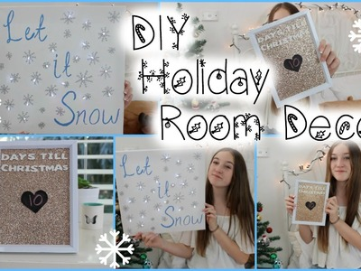 DIY Holiday.Christmas Room Decor! Tumblr Inspired!
