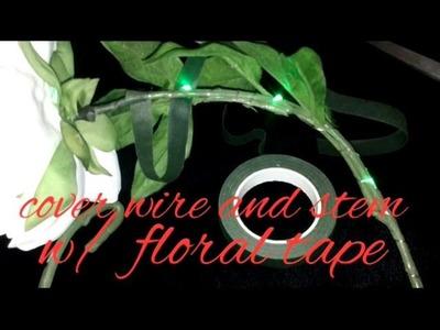 DIY how to make LED light flower wreath halo crown