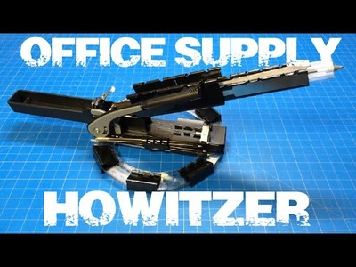 "DIY Mini Missile Launcher ""Office Supply Howitzer"""
