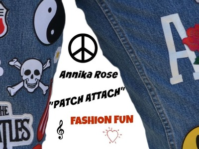 """DIY """"Patched Jeans"""" with Annika Rose"""
