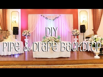 DIY Pipe & Drape Backdrop in 4 Easy Steps
