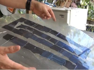 DIY Solar Panel from broken scrap cells UV CURE Resin