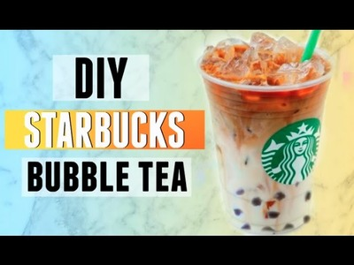 DIY Starbucks Boba. Bubble Tea | Iced Caramel Macchiato Recipe! 2015