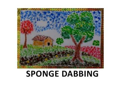 Fun for Preschoolers -  Sponge Dabbing (DIY)