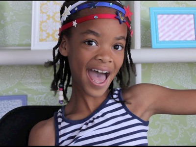 How to Make a DIY Patriotic July 4 Glitter Star Headbands