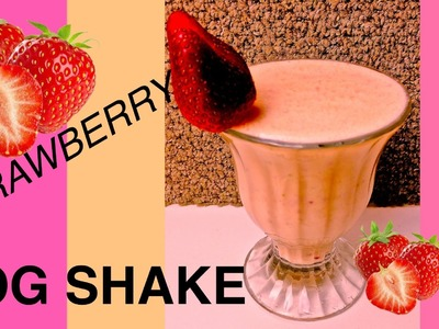 How to make STRAWBERRY BANANA PROTEIN DOG SHAKE SMOOTHIE MILK SHAKE DIY Dog Food by Cooking For Dogs