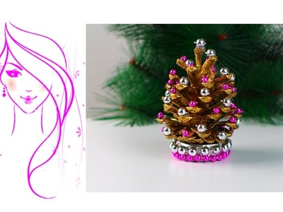 MORENA DIY: HOW TO MAKE PINE CONE CHRISTMAS TREES