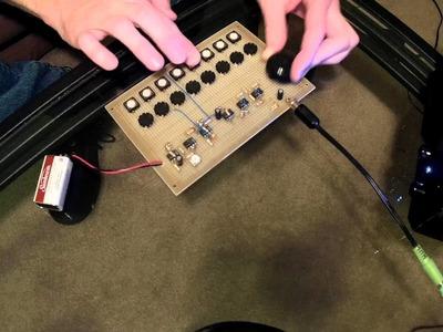 Simplest DIY. Homemade Moog. ARP. KORG Filter Sound Analog Synthesizer EVER