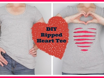 {Step-by-Step Sewing. DIY Fashion} DIY Ripped Heart T-Shirt
