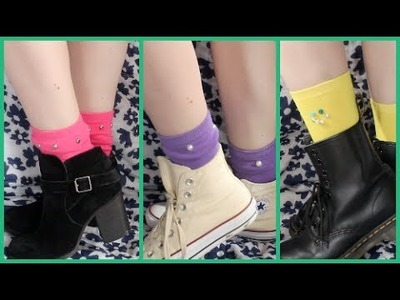 Three DIY Embellished Socks!