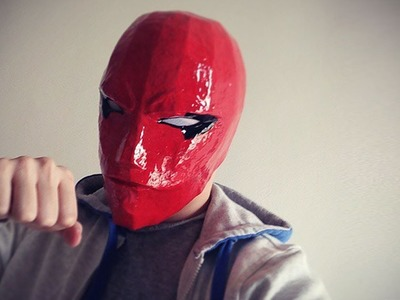 #107: Red Hood DIY Costume Helmet Part 3 - Paint & White Eyes