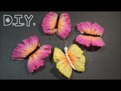 ♡ ❀ ♡ D.I.Y. Dual Tone Organza  Butterfly ♡ ❀ ♡