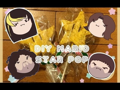 DIY - Cooking With The Grumps - Mario Star Rice Crispy Pops!