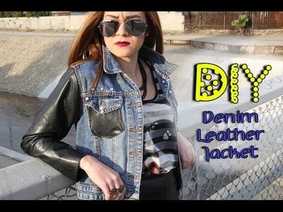 DIY Denim Leather Jacket    Lucykiins