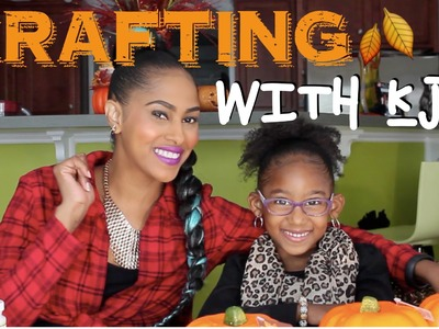 DIY GLAM-PUMPKINS | CRAFTING WITH KJ | CHINACANDYCOUTURE | KJTAKEOVER