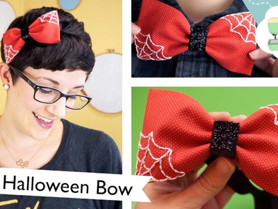 DIY Halloween Bow Headband: Tricks or Treats